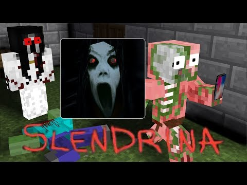 Monster school : HORROR SLENDRINA THE CELLAR CHALLENGE - Minecraft Animation