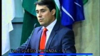 Primeiro discurso do vereador Silésio Miranda na Câmara Municipal de Uberlândia