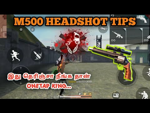 M500 HEADSHOT TIPS AND TRICKS   This tricks makes you more powerful than hackers 😉    M500 ONE TAP  