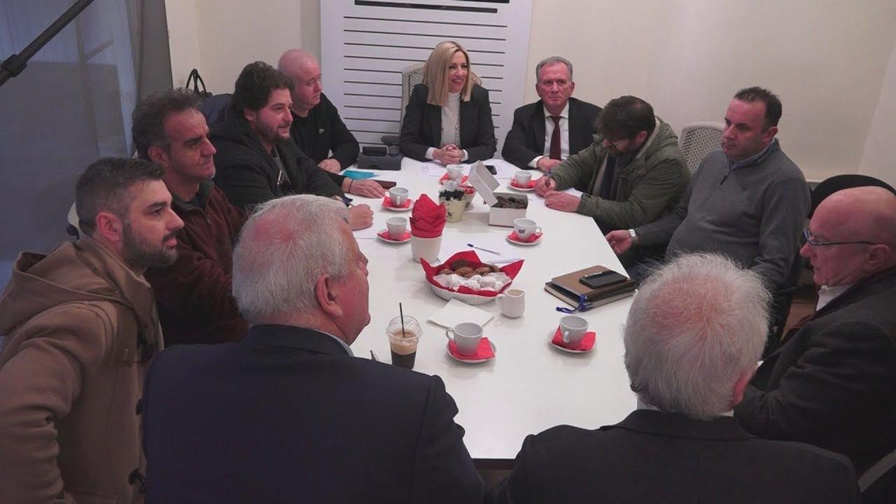 Συνάντηση της Φώφης Γεννηματά, με την  ομοσπονδία εργαζόμενων του ΟΤΕ