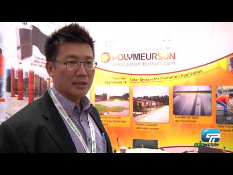 Polymeur Sun Singapore : Flexible Lightweight Thinfilm Solar Panels Without Glass Component