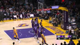 Jeremy Lin's Offense & Defense Highlights 2014-12-10 Lakers VS Kings 1080p