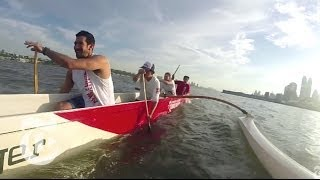 Racing Canoes in the Hudson River | The New York Times