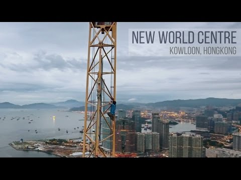Daring Urban Explorers Climb 265 Meter Tall New World Centre in Hong