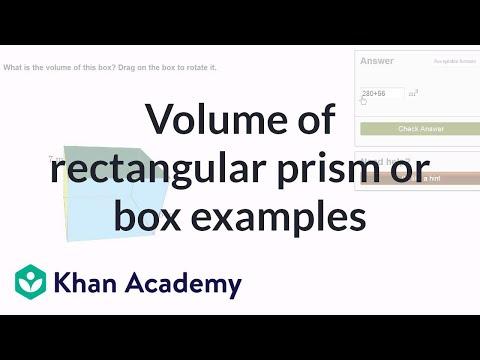 Volume Of A Rectangular Prism Video Khan Academy