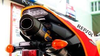 6. Honda CBR 600 REPSOL 2014 Exhaust Leo'vince SBK Carbon Titanium 99%(istimewa)