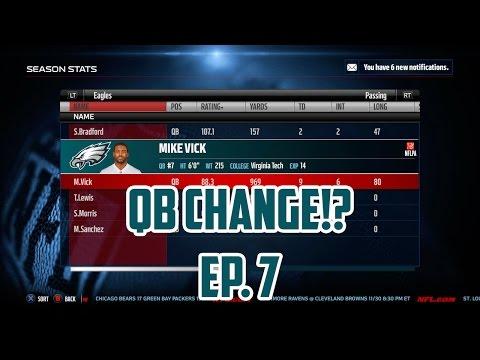 Madden 16 Eagles Connected Franchise: Quarterback Change!? [Ep. 7] (Season 1)