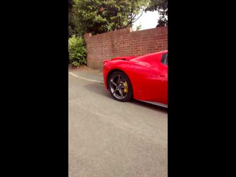 Ferrari 458 Parked Inside a Recreation Ground