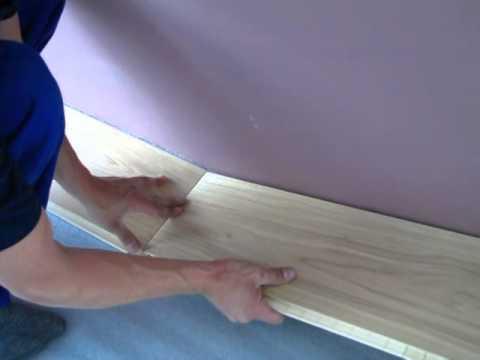 Videonávod na položení plovoucí podlahy. Položení první řady dokončení -5. díl