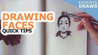 Tip for drawing faces