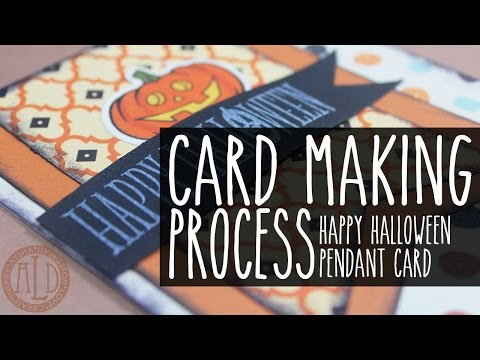 Cardmaking: Happy Halloween Pendant Card