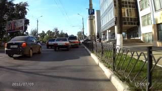 Izhevsk Russia  City new picture : Driving on the city of Izhevsk (Russia) on a carbon cyclocross bicycle with Crocolis HD in rush hour