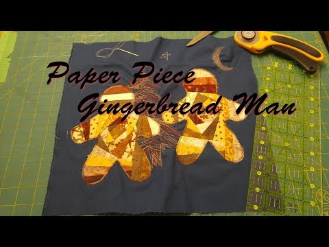 Paper Pieced Gingerbread Man