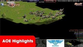 AOE Highlights, Trận đấu Hồng Anh đánh 22 dân Palmyral rất thú vị, game đế chế, clip aoe, chim sẻ đi nắng, aoe 2015