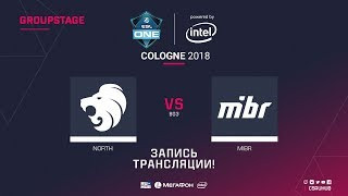 North vs MIBR - ESL One Cologne 2018 - map2 - de_overpass [CrystalMay, yXo]