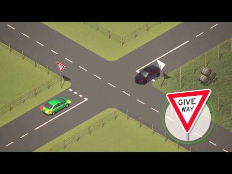 Vic Roads - Road Rules (2) - Giving Way At Intersections