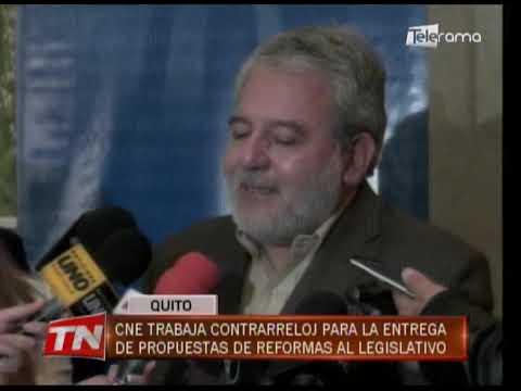 CNE trabaja contrarreloj para la entrega de propuestas de reformas al legislativo