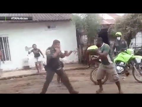 Policía y civil se enfrentaron a golpes en San Juan de Urabá - Teleantioquia Noticias