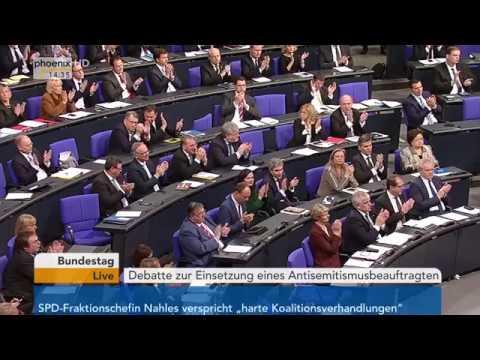 Bundestagsdebatte zur Bekämpfung von Antisemitismus a ...