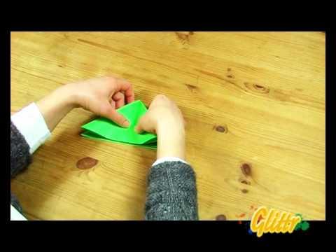 Frosch falten aus Papier - Origami