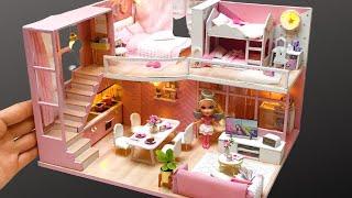 DIY Miniature Dollhouse kit Dream Angels with Barbie