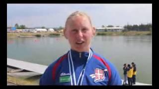 SK Račice 2016: Olivera Moldovan posle osvajanja medalje u K2-500