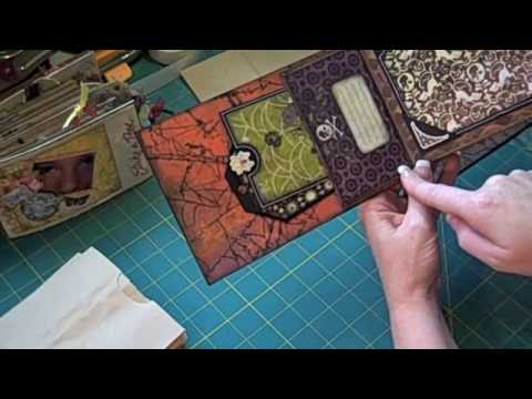 paper bag - This is how I make my paper bag mini scrapbook albums. It includes how I attach a canvas cover to the album. (c) Laura Denison The designs, pictures and inst...