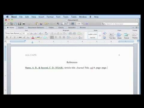 word on imac - Tutorial for formatting a manuscript for APA style rules using Word 2011 for Mac. Subtitles available: click on the CC button toward the bottom right of the ...