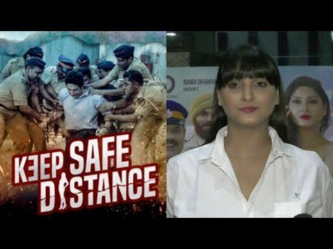 Actress Sagarika Neha At The Release Of The Film Keep Safe Distance
