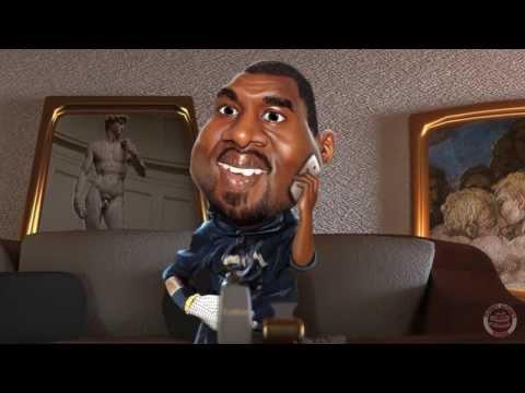 Kim Kardashian and Kanye West Cartoon Parody