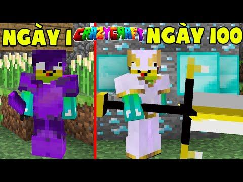 T Gaming Tóm Tắt 100 Ngày Sinh Tồn Minecraft Crazy Craft Siêu Khó !!