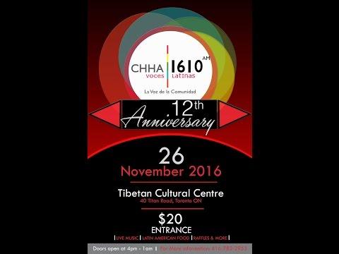 Aniversario número 12 de CHHA 1610 AM Radio Voces Latinas