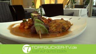 Wildlammspieß mit Patisson an Kartoffel-Karotten-Rösti | Topfgucker-TV