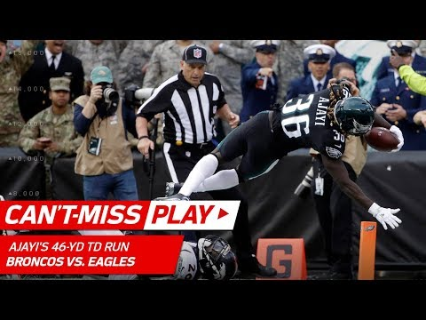 Jay Ajayi's Rolls On for 46-Yd TD Run in His Philly Debut! 🚂 | Can't-Miss Play | NFL Wk 9 (видео)