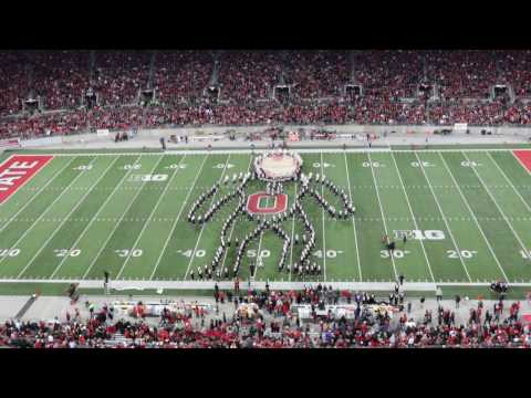 The Ohio State s Marching Band Performs Superhero Themed Halftime