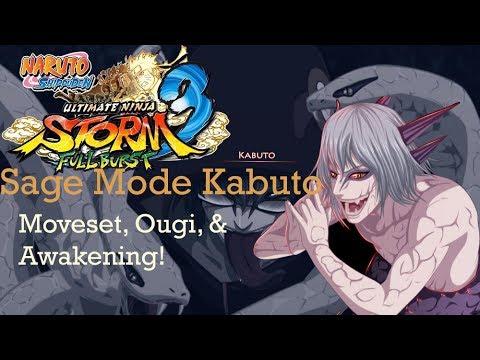 NUNS3 Full Burst - Sage Mode Kabuto - Moveset, Ougi, & Awakening