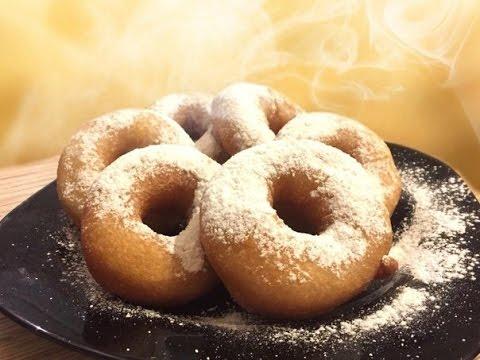 Пончики. Рецепт домашних пончиков. Пончики на молоке без дрожжей.