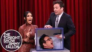 Video Jimmy and Kim Kardashian West Freak Out Touching Mystery Objects MP3, 3GP, MP4, WEBM, AVI, FLV April 2019