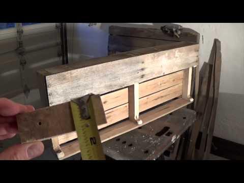 Video hướng dẫn làm kệ rượu bằng gỗ Pallet