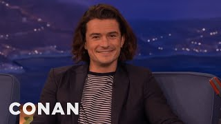 """Orlando Bloom Wants To Make A Porno Version Of """"The Hobbit""""  - CONAN on TBS"""
