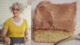 Vanilla Sheet Cake with Chocolate-Ganache Buttercream - Everyday Food with Sarah Carey by Everyday Food