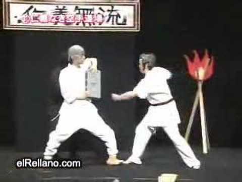 Una pelea de karate versión Matrix