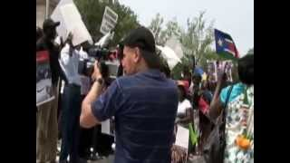 South Sudanese Demonstration In Washington D.C: