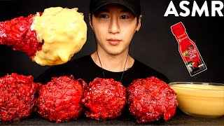 ASMR CHEESY NUCLEAR FIRE FRIED CHICKEN MUKBANG (No Talking) COOKING & EATING SOUNDS   Zach Choi ASMR