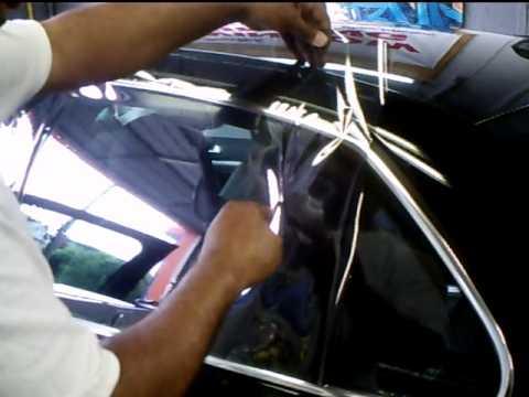 WINDOW TINT. HOW TO CUT SIDE WINDOW. www.ozonetinting.com