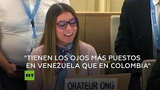 Una joven abogada de DD.HH. pide a la ONU enfocarse en Colombia