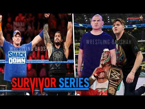 WWE Survivor Series 2019 - Cena joins Team Roman?!   Rey Wins WWE Champion?!   Cain Helps Rey?!  