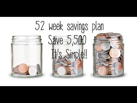 52 Week Savings Challenge    Save 5,512 This Year    Ways to Save