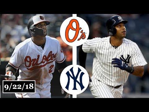 Baltimore Orioles vs New York Yankees Highlights    September 22, 2018