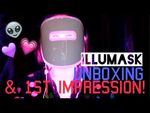 illuMask Anti-Acne Light Therapy Mask Unboxing & First Impression | Amy Ali